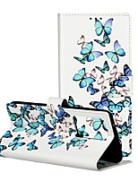 cheap -Case For Samsung Galaxy Galaxy A20e / Galaxy Note 10 / Galaxy Note 10 Plus Wallet / Card Holder / with Stand Full Body Cases Butterfly PU Leather