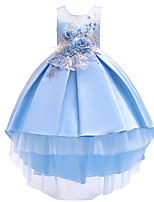 cheap -Princess Dress Party Costume Flower Girl Dress Girls' Movie Cosplay Princess Pink / Beige / Light Blue Dress Children's Day Masquerade Polyester