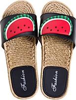 cheap -Women's Sandals Katy Perry Sandals Flat Heel Open Toe PU Summer White / Black