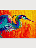 cheap -Hand Painted Rolled Canvas Oil Painting Abstract Animal by Knife Home Decoration Painting Only