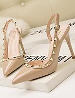 cheap -Women's Heels Stiletto Heel Pointed Toe PU Spring & Summer Black / Nude / White