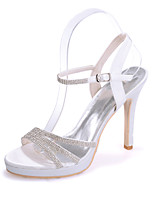 cheap -Women's Wedding Shoes Stiletto Heel Open Toe Sparkling Glitter Satin Sweet Spring & Summer White / Purple / Red / Party & Evening