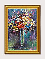 Недорогие -HD печать абстрактной живописи маслом европейский винтаж цветы спальня отель крыльцо оформлена холст, настенная живопись