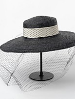 cheap -Net Hats with Rattan 1 Piece Casual / Outdoor Headpiece