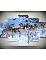 cheap -5 Panels Modern Canvas Prints Painting Home Decor Artwork Pictures DecorPrint Rolled  Stretched  Modern Art Prints Animals Natures