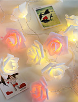cheap -1M 10LED Garland Artificial Flower Bouquet String Lights Foam Rose Fairy Lights For Valentine's Day Wedding Decoration