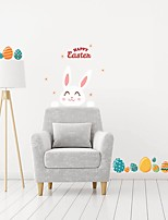 cheap -happy eastern Holiday Wall Stickers Plane Wall Stickers Decorative Wall Stickers PVC Home Decoration Wall / Window Decoration 1pc