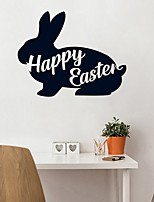 cheap -Bunny Easter Animals Wall Stickers Plane Wall Stickers Decorative Wall Stickers, PVC Home Decoration Wall Decal Wall Decoration 1pc