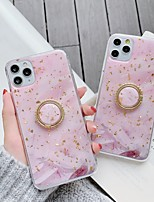 cheap -Case For Apple iPhone 11 / iPhone 11 Pro / iPhone 11 Pro Max Ring Holder / Pattern / Glitter Shine Back Cover Glitter Shine / Marble TPU