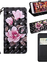 cheap -Case For Samsung Galaxy S9 / S9 Plus / S8 Plus Wallet / Card Holder / with Stand Full Body Cases Flower PU Leather / TPU