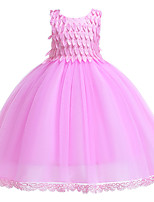 cheap -Princess Dress Flower Girl Dress Girls' Movie Cosplay A-Line Slip Cosplay Red / Pink Dress Halloween Carnival Masquerade Tulle Polyester