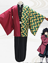 cheap -Inspired by Demon Slayer: Kimetsu no Yaiba Tomioka Giyuu Anime Cosplay Costumes Japanese Cosplay Suits Coat Top Pants For Men's / Belt