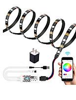 cheap -2m WIFI Control Kit Flexible LED Light Strips / Light Sets / RGB Strip Lights 60 LEDs SMD5050 10mm 1 set Multi Color Waterproof / APP Control / USB US EU  TV Background 5 V