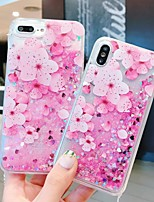 cheap -Case For Apple iPhone 11 / iPhone 11 Pro / iPhone 11 Pro Max Shockproof / Flowing Liquid / Pattern Back Cover Glitter Shine / Flower PC