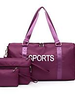 cheap -Women's Zipper Oxford Cloth Bag Set Solid Color 3 Pcs Purse Set Black / Purple / Blushing Pink