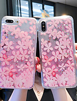 cheap -Case For Apple iPhone 11 / iPhone 11 Pro / iPhone 11 Pro Max Shockproof / Flowing Liquid / Pattern Back Cover Transparent / Glitter Shine / Flower PC