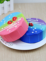 cheap -1 Squeeze Toy / Sensory Toy Slow Rising Stress Reliever Cake Stress and Anxiety Relief Color Gradient Decompression Toys Silicone 2 pcs Teen Adults' All Toy Gift