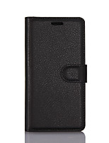 cheap -Case For Lenovo Lenovo P2(Lenovo P2 P2a42, Lenovo Vibe P2) / Lenovo Vibe P1m / Lenovo Vibe P1 Wallet / Card Holder / Flip Full Body Cases Solid Colored PU Leather / TPU