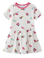 cheap -Kids Girls' Geometric Dress White