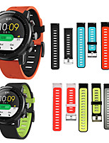 cheap -HANGRUI Double Sided Silicone Wristband Bracelet Band For Xiaomi Huami Amazfit GTR 47mm/Amazfit Stratos 2 2S Quick Release Strap