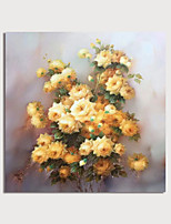 cheap -Hand Painted Canvas Oilpainting Abstract Yellow Flowers by Knife Home Decoration with Frame Painting Ready to Hang