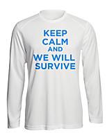Недорогие -Вдохновлен Смешной слоган уцелевший Косплэй Kостюмы Как у футболки Полиэстер С принтом Рисунок Футболка Назначение Муж.