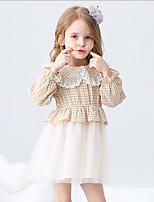 cheap -Kids Girls' Plaid Dress Blushing Pink