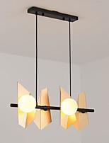 cheap -QIHengZhaoMing 4-Light 26 cm Island Design Chandelier Metal Glass Painted Finishes Modern 110-120V / 220-240V