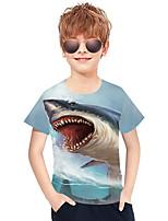 cheap -Kids Boys' Active Punk & Gothic 3D Plaid Animal Short Sleeve Tee Blue