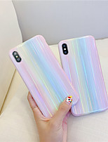 cheap -For Apple iPhone 6/6s/6S Plus/7/8/Plus/8 Plus/iPhone X/iPhone X/iPhone XR/iPhone XMax/iPhone 11/iPhone 11 Professional Max ShockProof Solid Rainbow Laser TPU