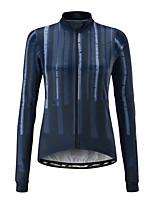 cheap -21Grams Women's Long Sleeve Cycling Jersey 100% Polyester Blue Stripes Bike Jersey Top Mountain Bike MTB Road Bike Cycling UV Resistant Breathable Quick Dry Sports Clothing Apparel / Stretchy