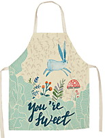 cheap -Kitchen Cleaning Easter bunny apron 1pc