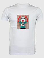 Недорогие -Вдохновлен Любовь и мир Косплей Косплэй Kостюмы Как у футболки Полиэстер С принтом Рисунок Футболка Назначение Муж.