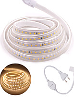 cheap -LED Strip 5M 120LED/M SMD 2835 LED Strip Light AC 220V With Power Plug IP65 Waterproof Bright Lights