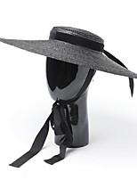 cheap -Straw Hats with Cap 1 Piece Wedding Headpiece
