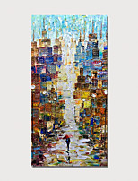 cheap -Hand Painted Rolled Canvas Oil Painting  Abstract Modern by Knife Home Decoration  Painting Only
