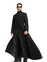cheap -Cosplay Coat Party Costume Adults' Men's Halloween Halloween Festival / Holiday Polyster Black Men's Carnival Costumes