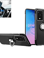 cheap -Case For Samsung Galaxy Galaxy S10 / Galaxy S10 Plus / Galaxy S10 E Ring Holder Back Cover Solid Colored TPU / PC / Metal