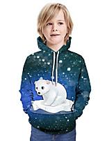 cheap -Kids Boys' Active Basic Color Block 3D Long Sleeve Hoodie & Sweatshirt Blue