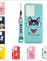 cheap -Case For Samsung Galaxy S9 / S9 Plus / S8 Plus Frosted / Pattern Back Cover Solid Colored / Cartoon TPU