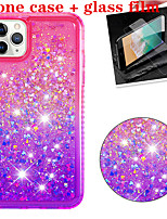 cheap -Case For Apple Shockproof / Flowing Liquid / Glitter Shine Back Cover Solid Colored TPU