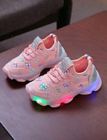 cheap -Boys' / Girls' LED Shoes Flyknit Athletic Shoes Toddler(9m-4ys) / Little Kids(4-7ys) Pink / White Spring / Summer / Color Block