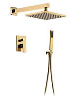 Недорогие -Смеситель для душа - латунная душевая лейка для душа Ванная система для душа настенное крепление смеситель для ванны из золота