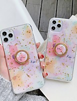 cheap -Case For Apple iPhone 11 / iPhone 11 Pro / iPhone 11 Pro Max Ring Holder / Pattern / Glitter Shine Back Cover Glitter Shine / Flower TPU