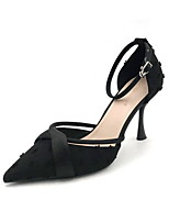 cheap -Women's Heels Stiletto Heel Pointed Toe Suede Spring & Summer Black / Almond