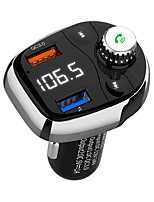 cheap -T62 Bluetooth Car Audio Adapter FM Transmitter with Double Car Charger Wireless Car Kit for Car Stereo System Music Player Support Three Music Play Mode Radio Work with Any Smart Mobile Phones