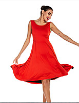 cheap -Latin Dance Dresses / Club Costume Women's Performance Terylene Pick Up Skirt Dress