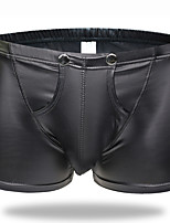 cheap -Men's Basic Boxers Underwear - Normal Low Waist Black M L XL