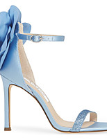 cheap -Women's Wedding Shoes Stiletto Heel Round Toe Suede Spring & Summer Blue