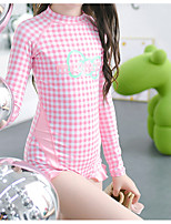 cheap -Girls' Rash Guard Dive Skin Suit Diving Suit UV Sun Protection Anatomic Design Long Sleeve Front Zip 3-Piece - Diving Water Sports Patchwork Summer / Micro-elastic / Kid's
